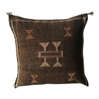 Vintage Brown Pillow Cover For Sale