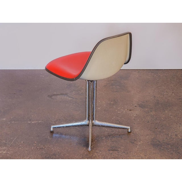 Herman Miller Red La Fonda Eames Chair for Herman Miller For Sale - Image 4 of 11