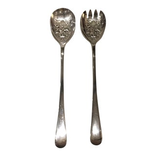 English Silver Serving Utensils - A Pair For Sale