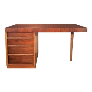 Mid-Century Modern T. H. Robsjohn-Gibbings Walnut Writing Desk For Sale