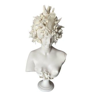 """""""Goddess of Love"""" Contemporary Shell Encrusted Venus Bust For Sale"""