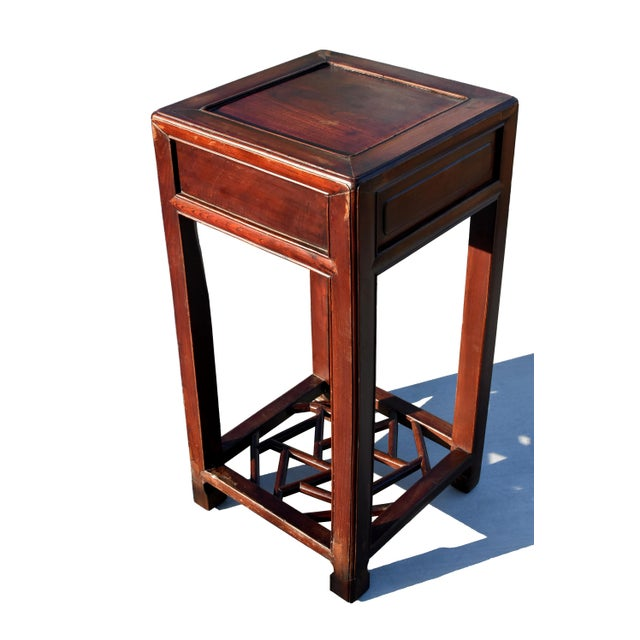 19th Century Chinese Antique Ming Side Table Lamp Table For Sale - Image 4 of 13