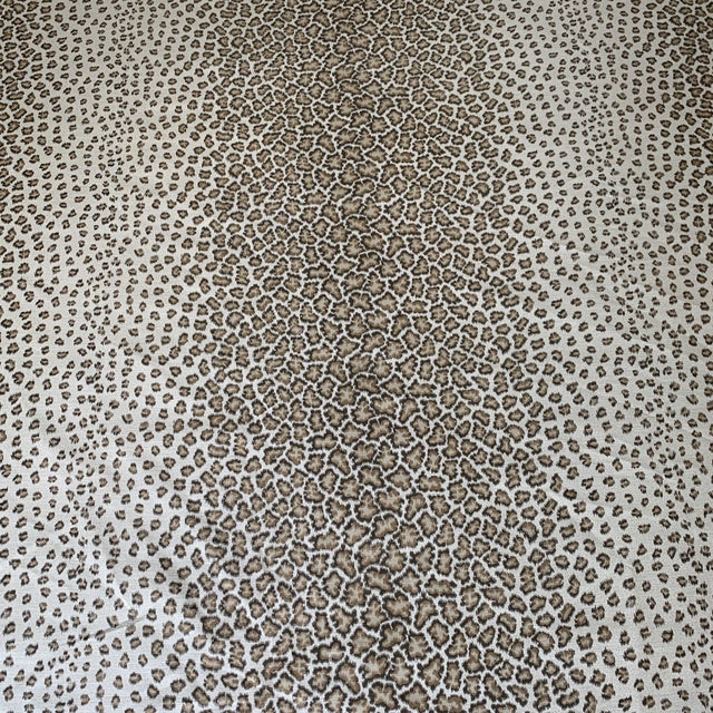 "Hollywood Regency Colefax & Fowler ""Livingstone"" Leopard Print Fabric- 2 1/2 Yards For Sale - Image 3 of 6"
