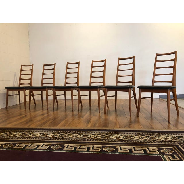 Wood Niels Koefoed for Koefoeds Hornslet Lis Teak Ladder Back Dining Chairs - Set of 6 For Sale - Image 7 of 13