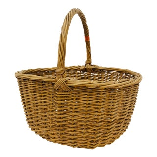 Antique Woven Basket For Sale