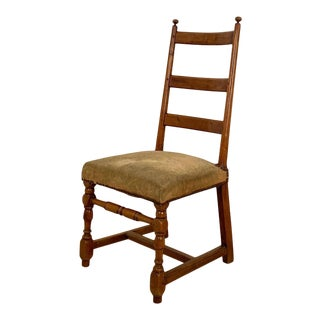 Circa 1750 Ladder Back Side Chair, Continental For Sale