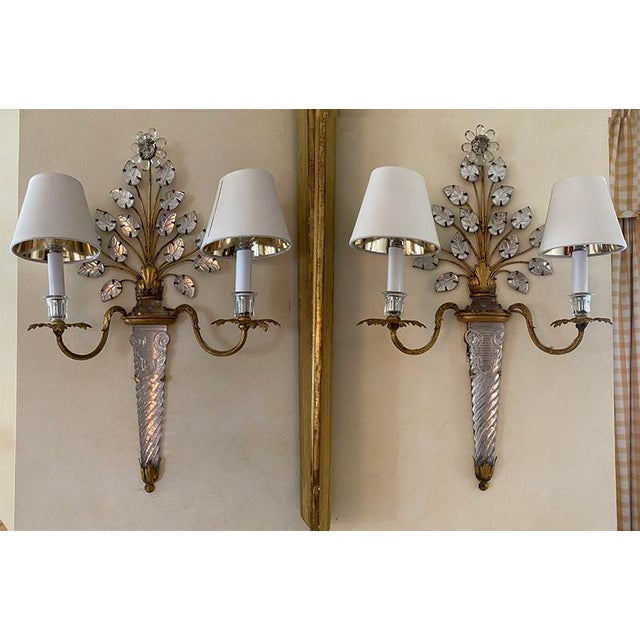 French Baccarat Sconces - a Pair For Sale - Image 4 of 4