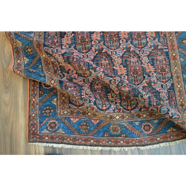 """Paisley Antique Persian Malayer Rug - 3'10"""" X 6'4"""" - Image 7 of 8"""