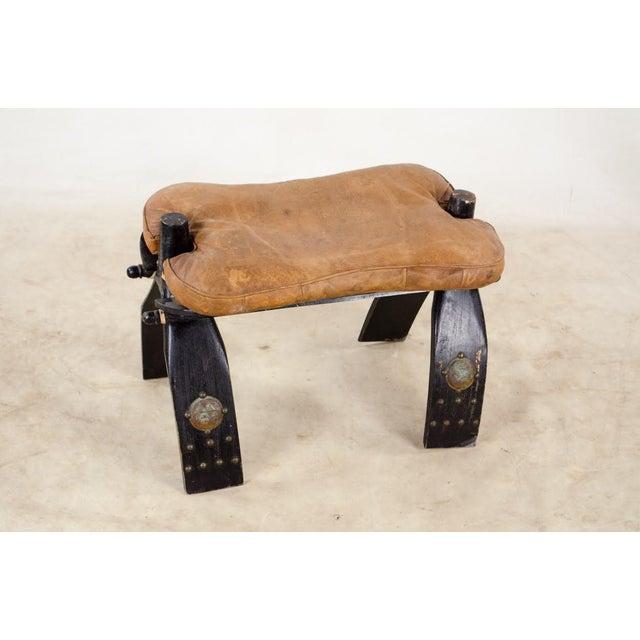 Vintage Egyptian Camel Saddle Stool For Sale - Image 13 of 13