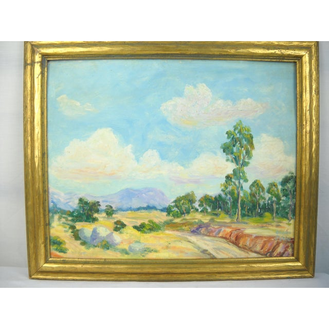 1930s California Landscape Oil Painting For Sale - Image 4 of 9