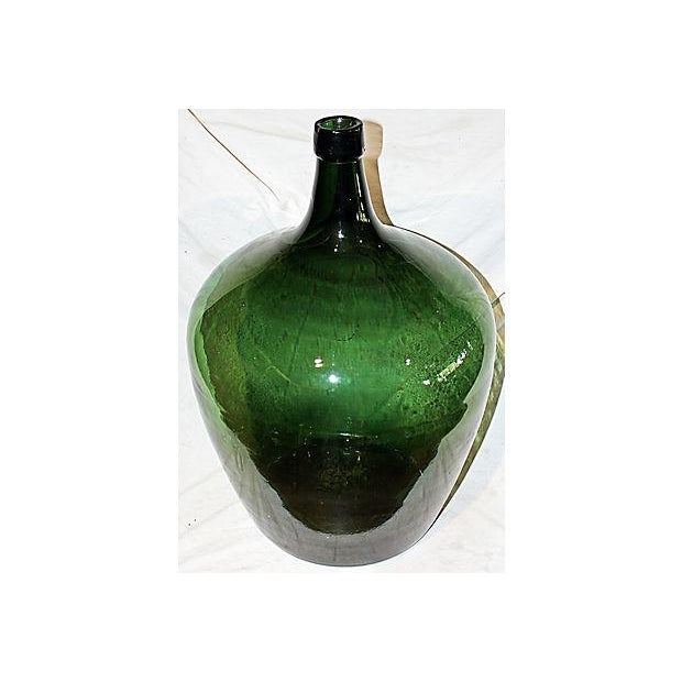 Boho Chic Antique French Demijohn Bottle For Sale - Image 3 of 6