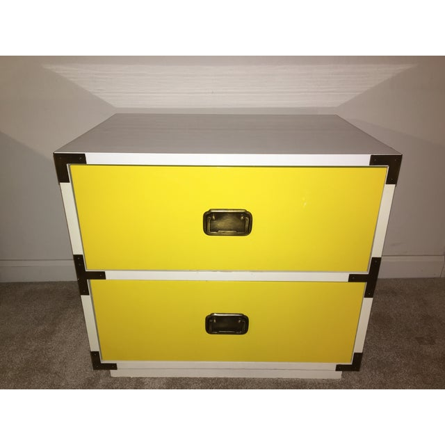 1970s Mid-Century Modern Campaign Nightstand-a Pair For Sale - Image 6 of 12