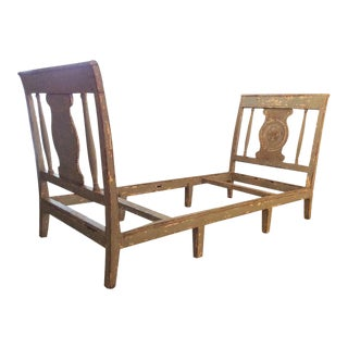 19th Century Italian Baroque Wood Day Bed For Sale
