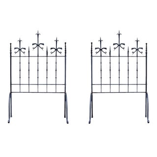 Late 19th Century Antique Spanish Wrought Iron Screens/Grills - A Pair For Sale
