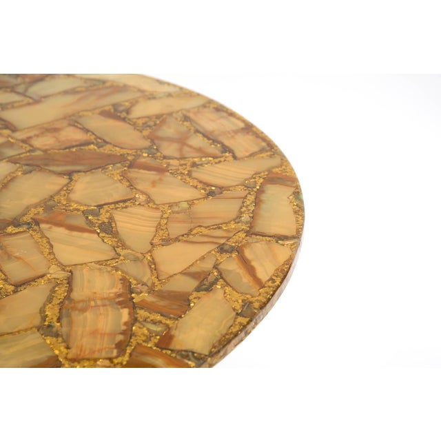 Mid-Century Modern Agate and Bronze Dining Table For Sale - Image 3 of 5