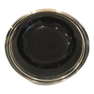 Black Murano Glass Bowl