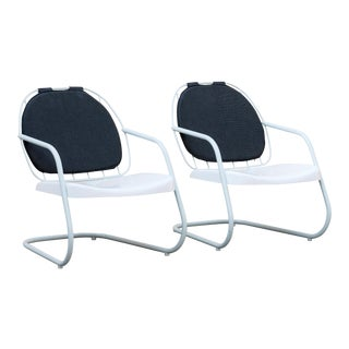 Pair of Cruiser Patio Lounge Chairs Ilan Dei Venice For Sale