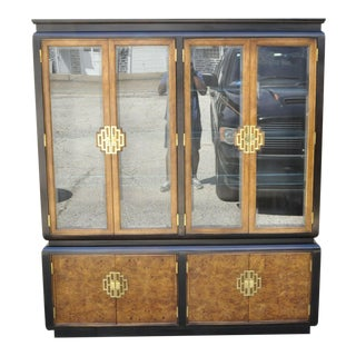 Century Furniture Co Chin Hua Burl Wood James Mont Cabinet For Sale
