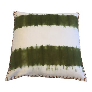 Jamie Young Tie Dye Pillow Green For Sale