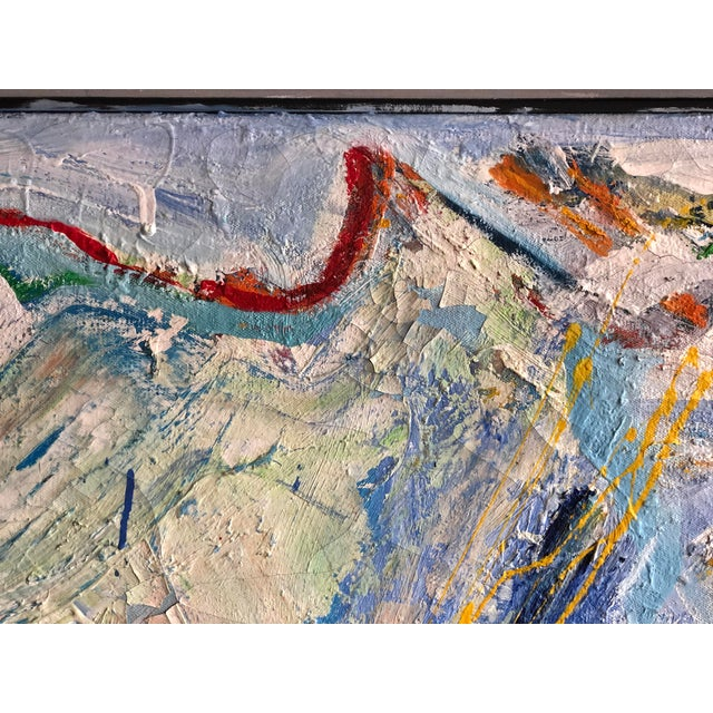1990s Fabulous Heavy Impasto Abstract by Thomas Koether For Sale - Image 5 of 8