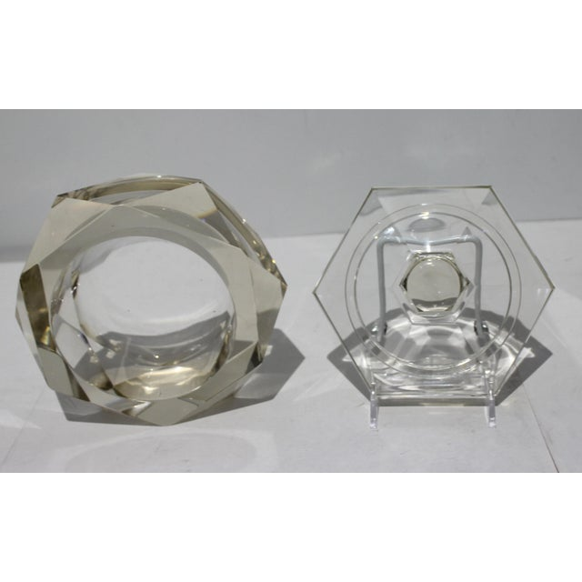Art Deco 1930s Cut Crystal Covered Dish For Sale - Image 10 of 12