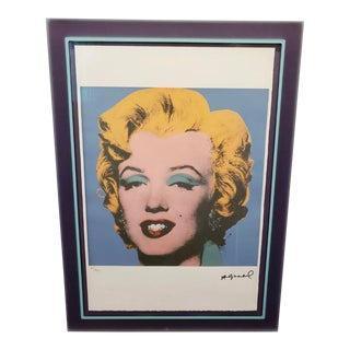 """Andy Warhol """"Marilyn"""" Signed Lithograph Acrylic Frame For Sale"""