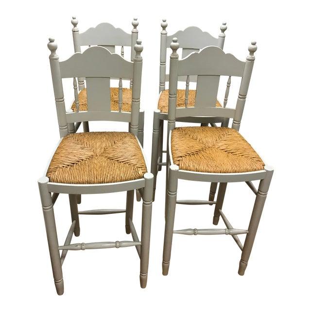Nantucket Style Bar Stools - Set of 4 - Image 1 of 9