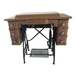 Cabinet With Original Sewing Machine