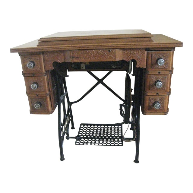 Cabinet With Original Sewing Machine For Sale