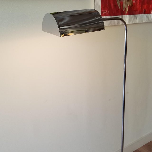 1970s Fratelli Mannelli Travertine and Chrome Floor Lamp for Raymor For Sale In Seattle - Image 6 of 13