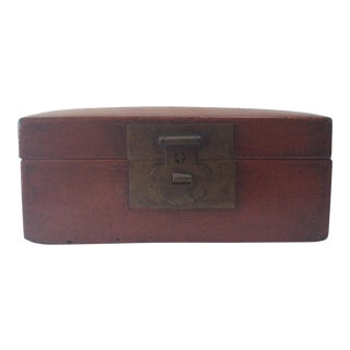 19th Century Red Leather Box