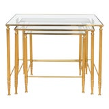 Image of Italian Brass Nesting Tables - Set of 3 For Sale