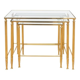 Italian Brass Nesting Tables - Set of 3