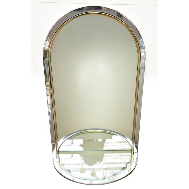 Modern Pace Racetrack Arched Wall Mirror For Sale - Image 3 of 8