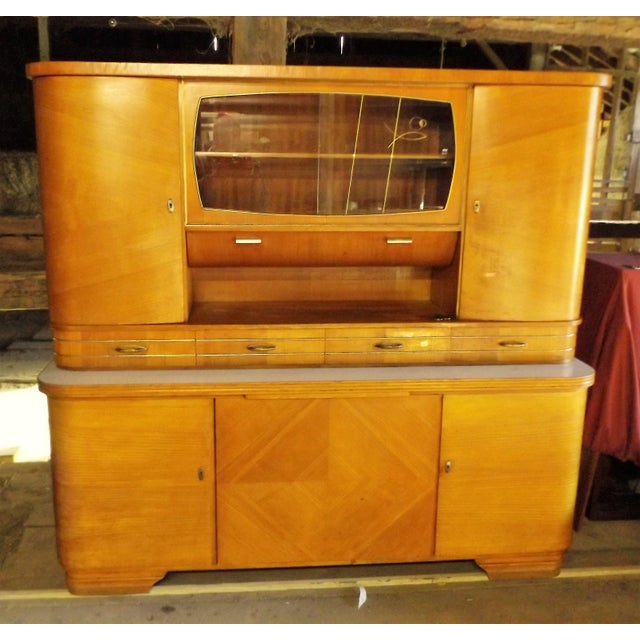 Mid-Century Modern Kitchen Hoosier Hutch - Image 2 of 11