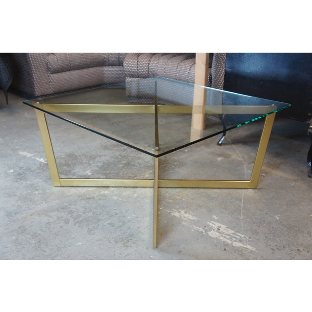 Early 21st Century Contemporary West Elm Cross-Base Square Coffee Table For Sale - Image 5 of 11