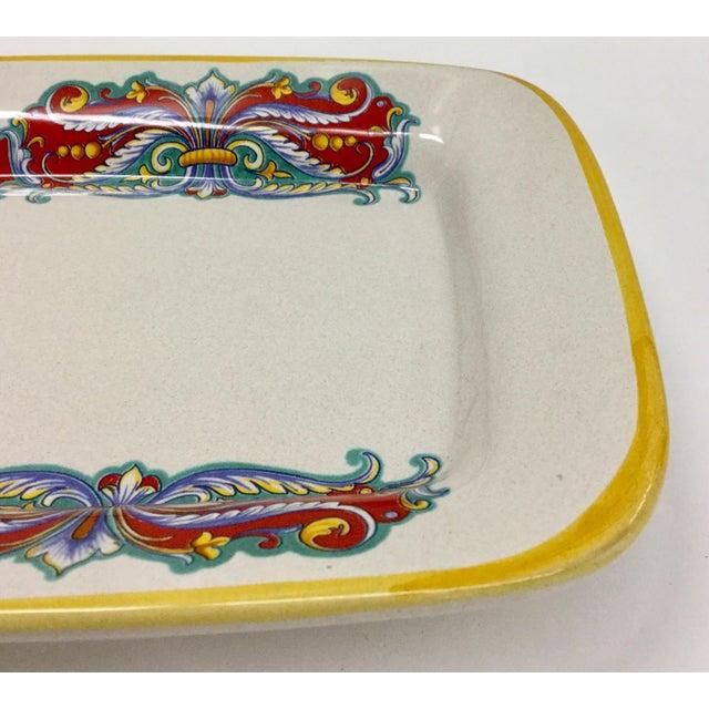 Vintage Italian Ceramica Nova Deruta Hand Painted Platter For Sale - Image 4 of 10