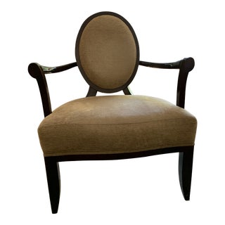 Barbara Barry for Baker X-Frame Oval Back Arm Chair For Sale