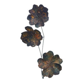 Mid-Century Floral Wall Sculpture