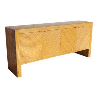 Milo Baughman Style Bamboo Credenza For Sale