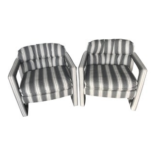 Milo Baughman for Drexel Parsons Chairs - A Pair