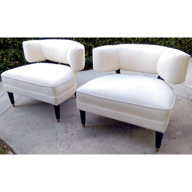 Modern Contemporary Slipper Lounge Chairs - Pair - Image 5 of 10