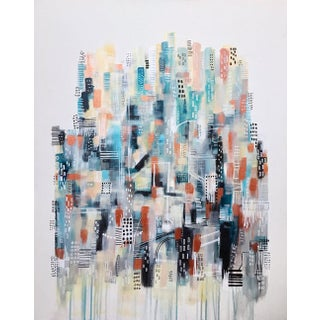 Abstract Cityscape Painting by Melanie Biehle For Sale