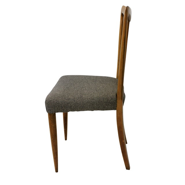 Italian Set of Six Stylish Italian Dining Chairs For Sale - Image 3 of 5