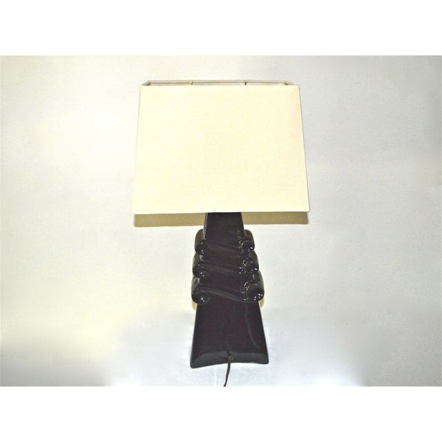 Mid-Century Black and Gold Lamp For Sale - Image 6 of 11
