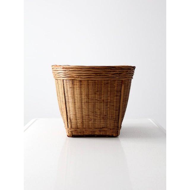 Vintage Woven Reed Basket - Image 7 of 10