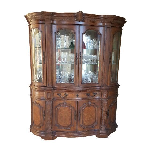 Drexel Heritage Talavera Tuscan China Cabinet For Sale