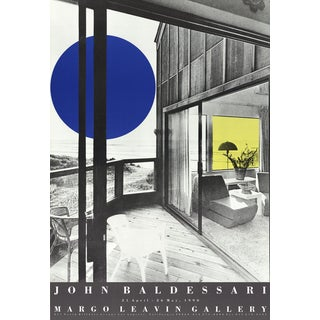"John Baldessari ""Margo Leavin Gallery"" Lithograph, 1990"