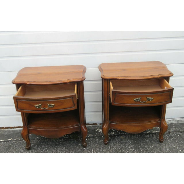French French Cherry Nightstands Side End Tables - a Pair For Sale - Image 3 of 13