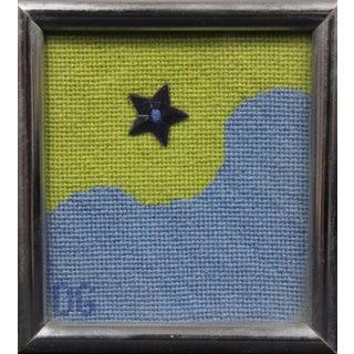 """""""Star Over Waves"""" Framed Needlepoint"""
